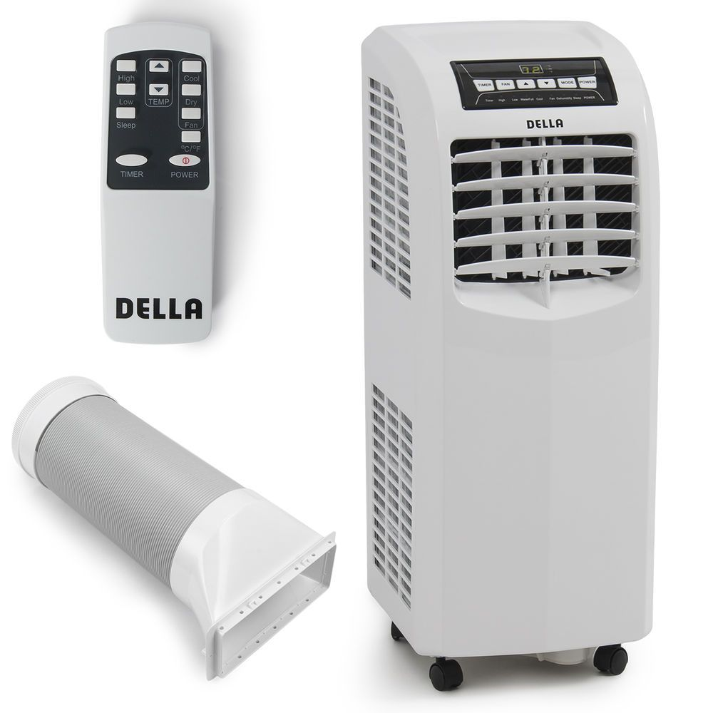 8 000 Btu Portable Air Conditioner Cooling A C Cool Fan Indoor W Remote White Portable Air Conditioner Dehumidifiers Air Conditioner