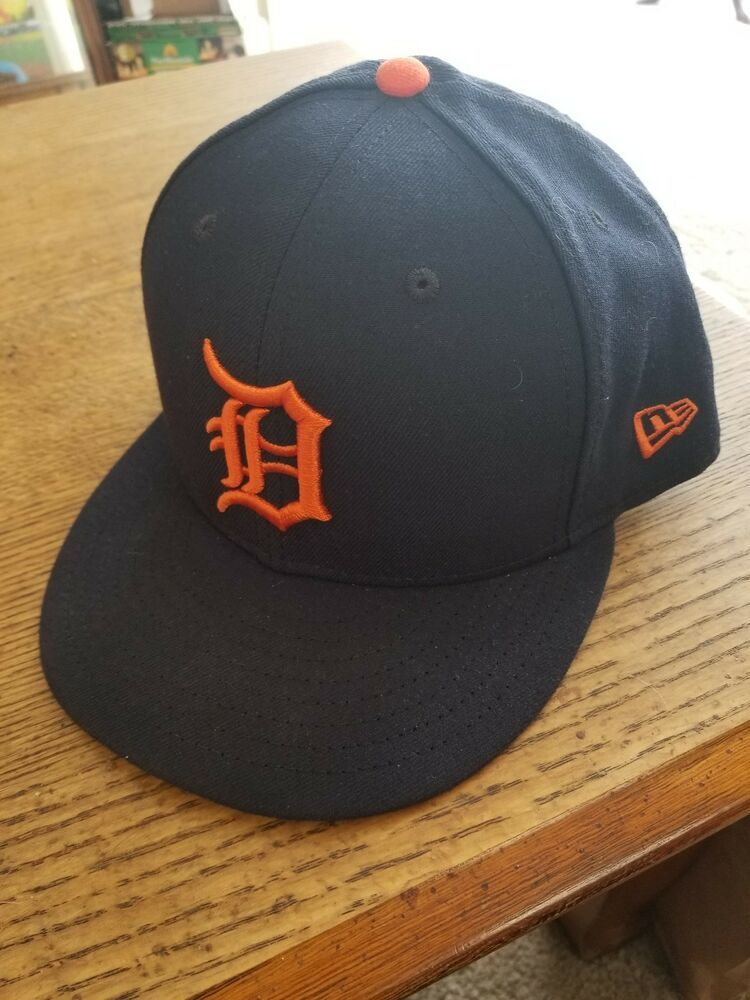 New Era 59Fifty Detroit Tigers HOME Fitted Hat MLB Cap Dark Navy