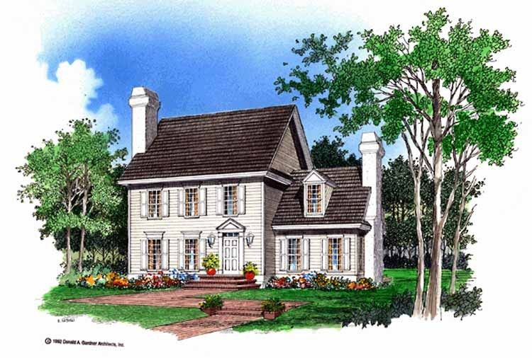 Georgian House Plan With 1763 Square Feet And 3 Bedrooms From Dream Home Source House Plan Code Dhsw01417 Colonial House Plans Farmhouse Plans Georgian Homes
