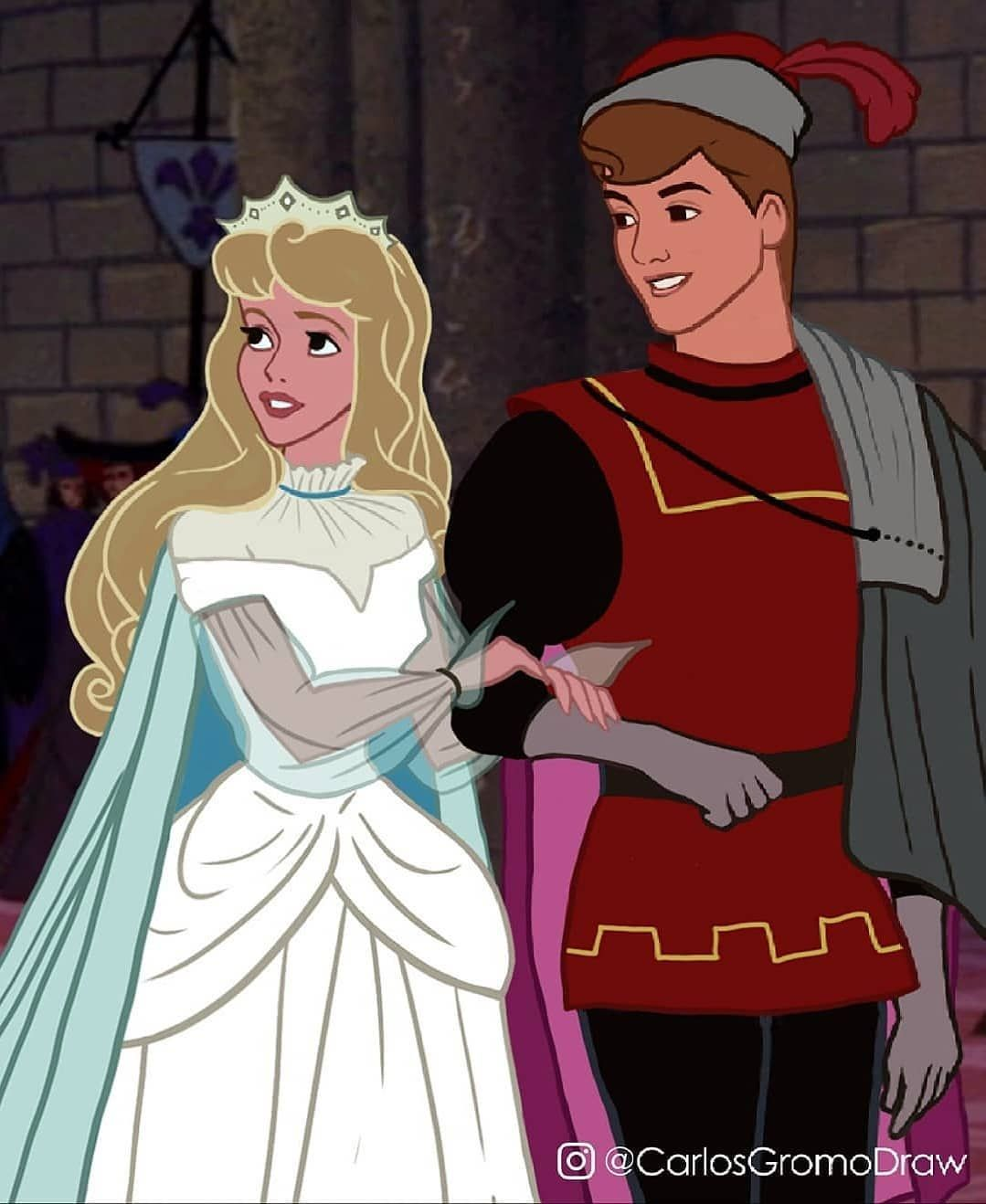 Aurora and prince philip disney cartoon characters