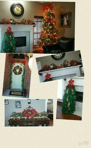 Decoracion navideńa!! 2015 #pino ... #puerta ... #chimenea ...#pinitodemaya ...#sofatable