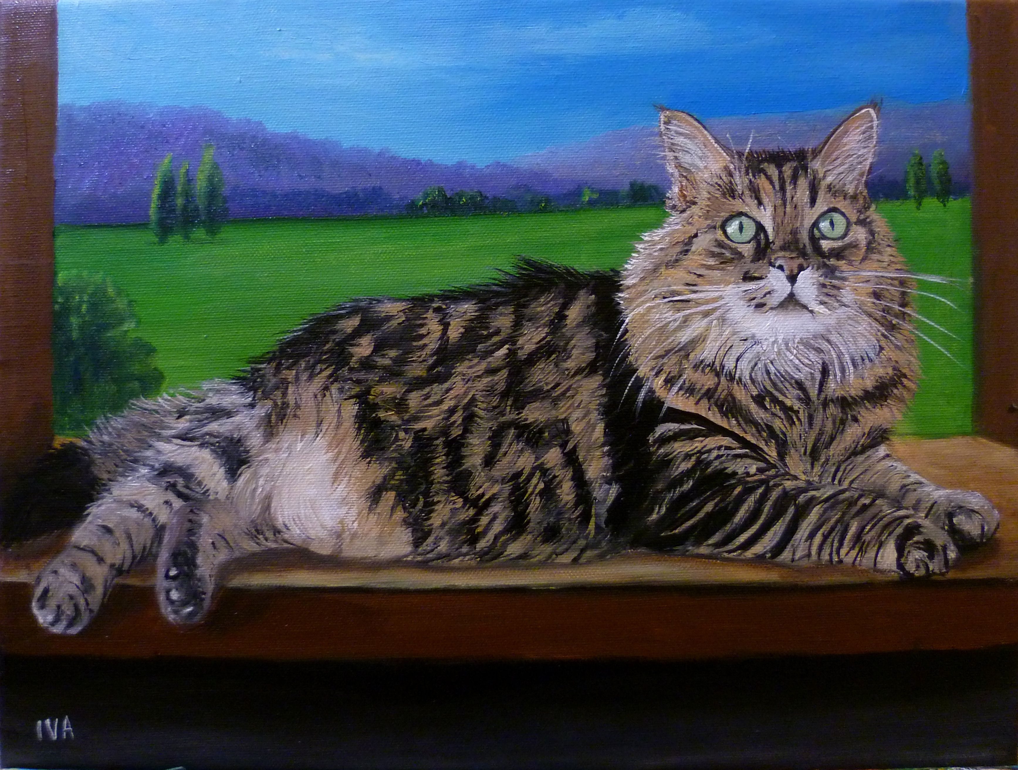 dipinto olio su tela