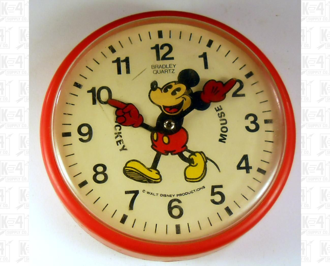 Bradley walt disney mickey mouse wall clock shop bonanza bradley walt disney mickey mouse wall clock amipublicfo Choice Image