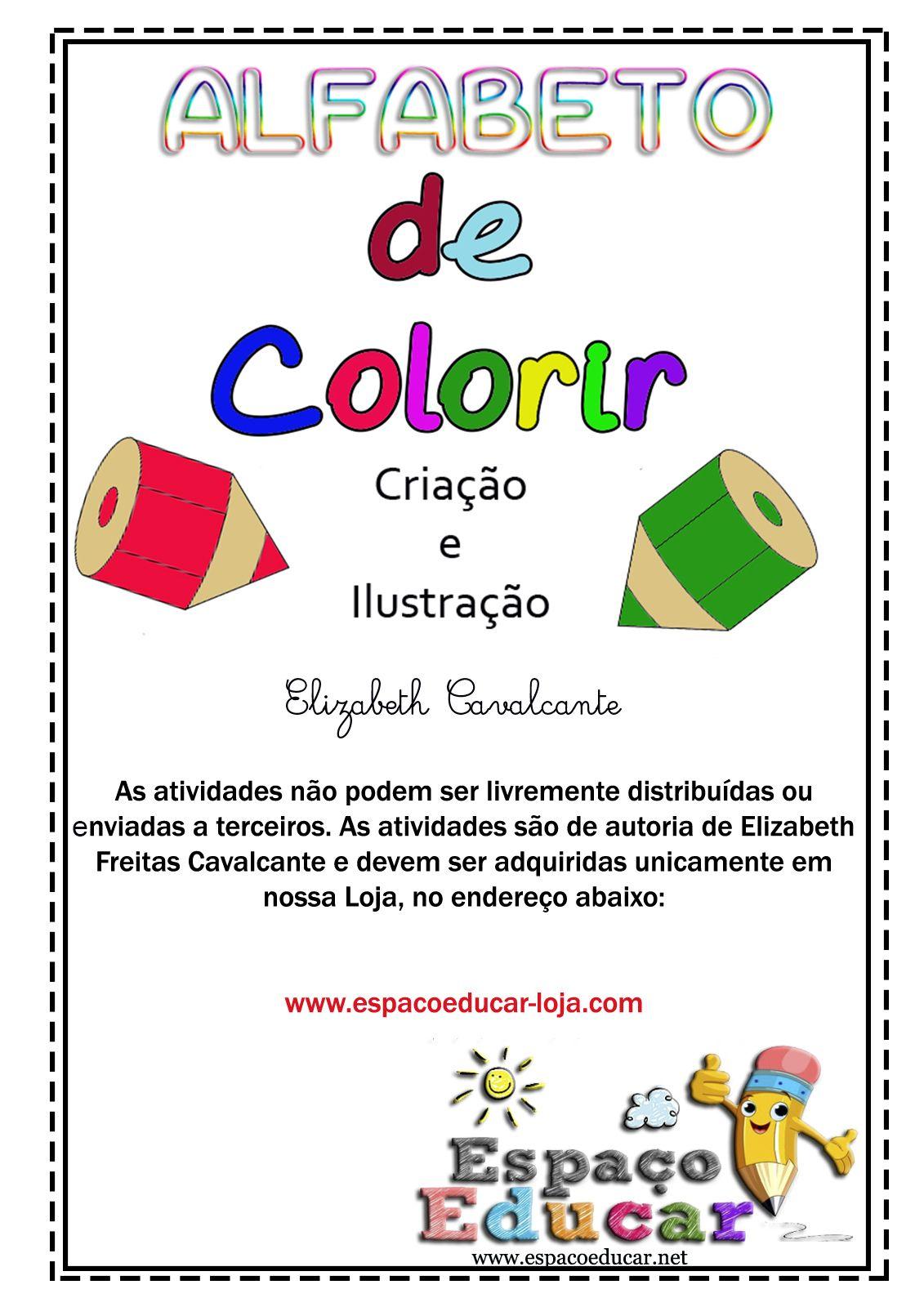 Alfabeto Para Colorir Atividades De Alfabetizacao Arquivo Digital