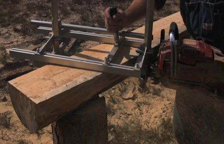 Chainsaw Mill Sawing Board Barns In 2019 Chainsaw Mill