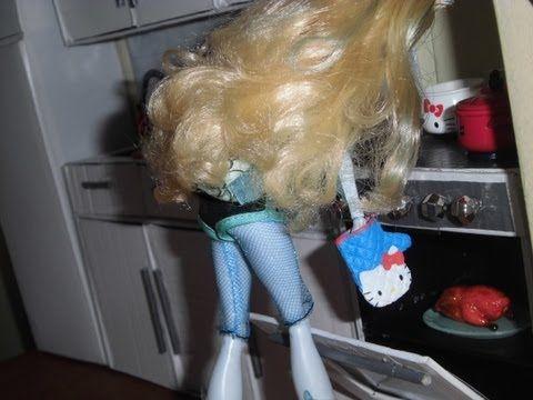Como fazer um fogão para boneca Monster High, Pullip, Barbie e etc - YouTube