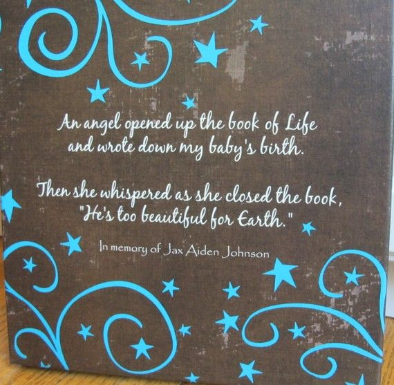 Loss Of Life Quotes Brilliant Custom Canvas  Infant Child Or Adult Death  Sympathy Gift