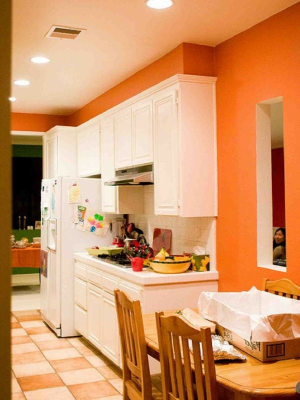 super-orange-küchen-wandfarbe-ulramoderne-küchen-design   Ideen rund ...