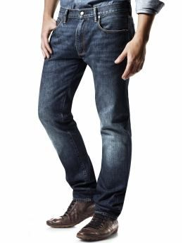 A pair of affordable jeans - Gap Men: Straight fit jeans (dark ...