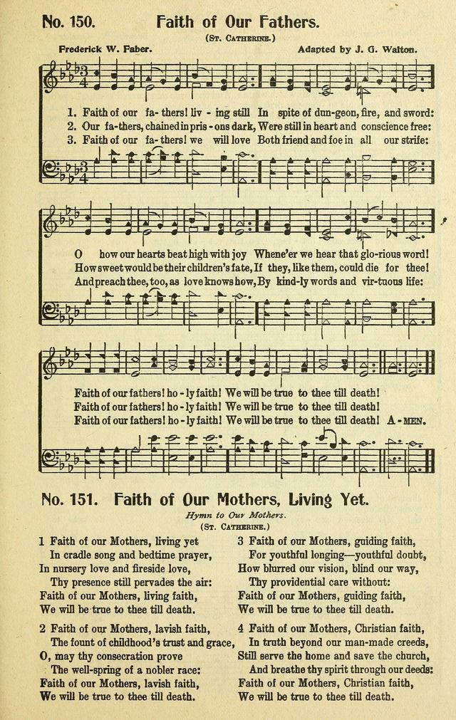 graphic about Free-printable Southern Gospel Song Lyrics identified as Religion of our fathers, dwelling however -  HYMNS