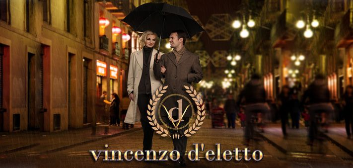 vincenzo d'eletto is an Italian luxury fashion house similar to the prestigious brands such as Gucci &  Dolce Gabbana that offers its own on-line shopping  store featuring made-to-measure apparel and accessories for men and women.