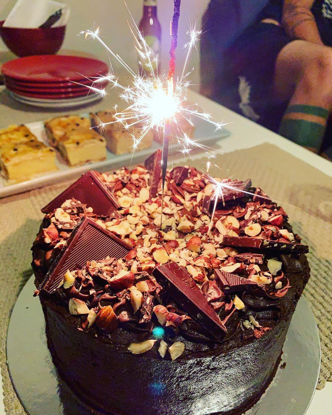 My birthday cake carrot hazelnut chocolate vegan of
