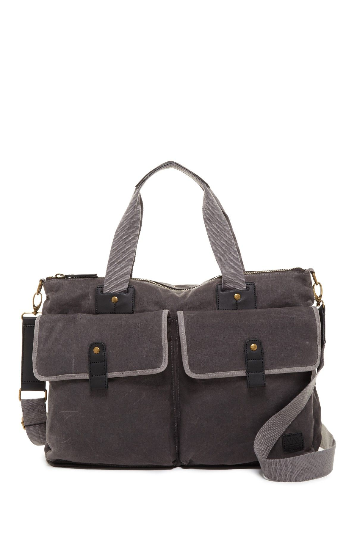 Fairfield Leather Trimmed Double Handle Carry All