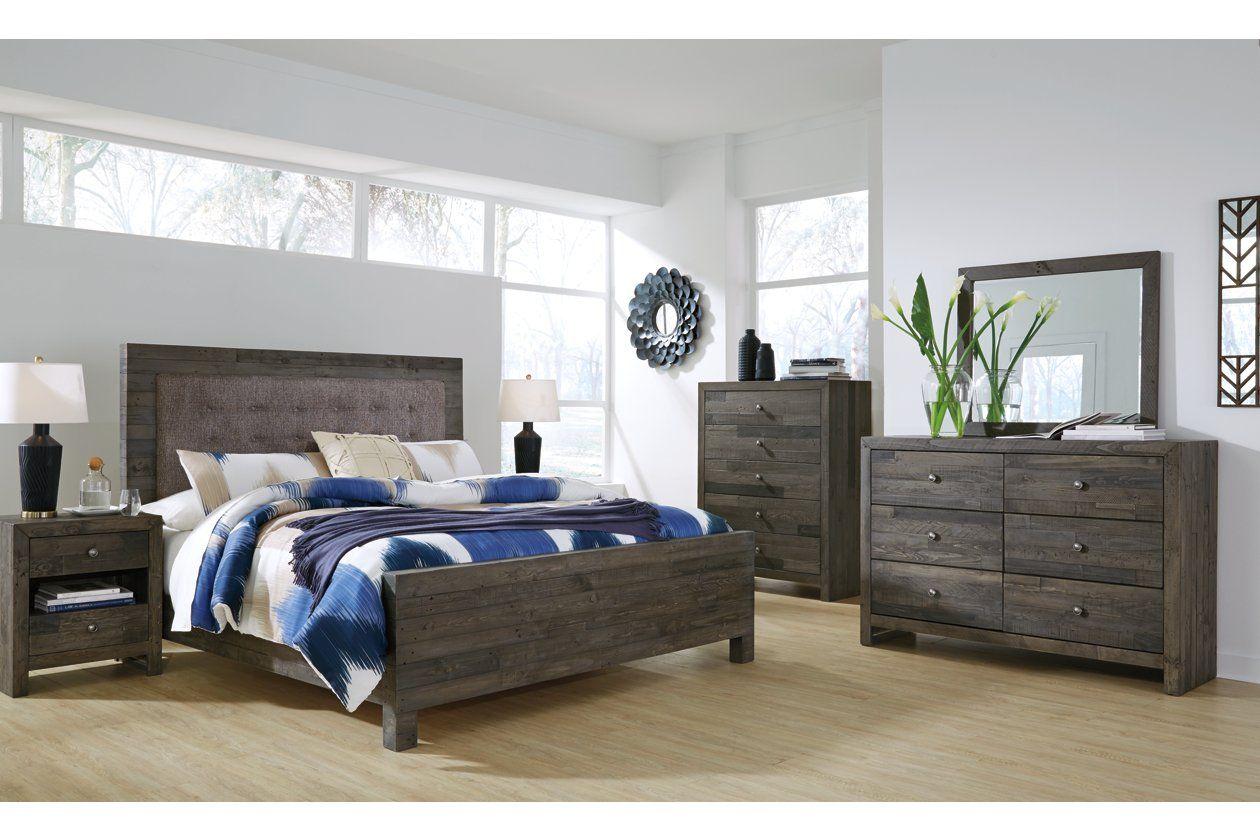 Mayflyn 5 Piece Queen Bedroom In 2020 Bedroom Set Upholstered Bedroom Queen Bedroom
