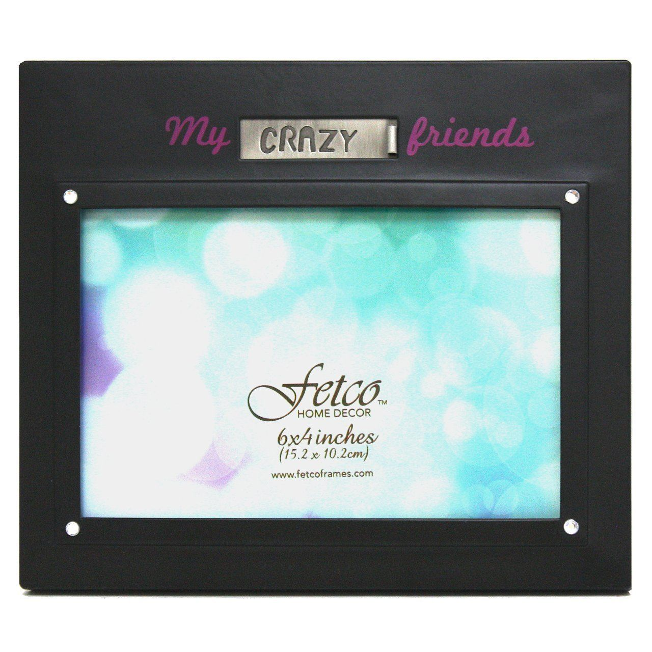 Fetco Home Décor Elli \'My Crazy Friends\' Picture Frame, 6 by 4-Inch ...