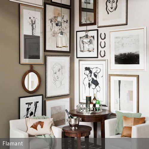 Sitzecke mit bilderwand gestalten bunte welt - Bilderwand gestalten ...