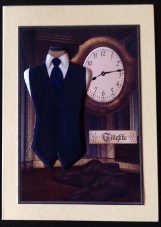 Male Card Gentlemans Clothes 2 by Gitte Jensen