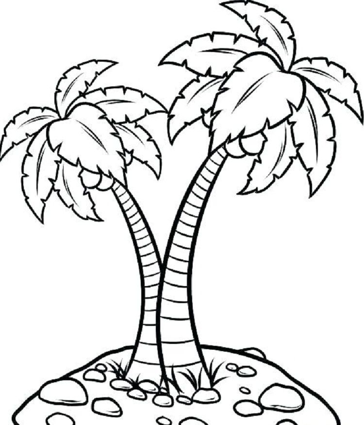 Pin By Taryn May On Jungle Tree Tree Coloring Page Animal Coloring Pages Palm Tree Outline
