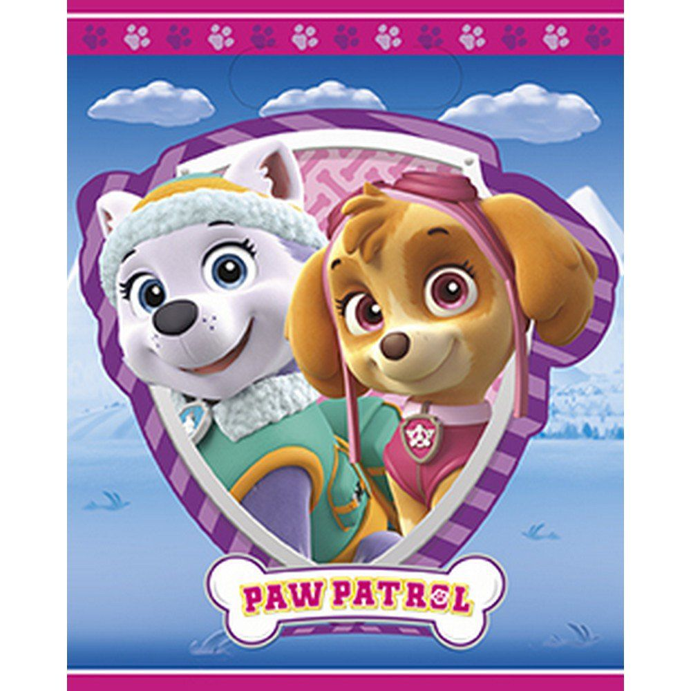 Pink Paw Patrol Favor Bags (8) - Paw patrol favors, Paw patrol favors bags, Paw patrol birthday girl, Skye paw patrol, Paw patrol birthday party, Paw patrol birthday theme - Pink Paw Patrol Favor Bags (8)