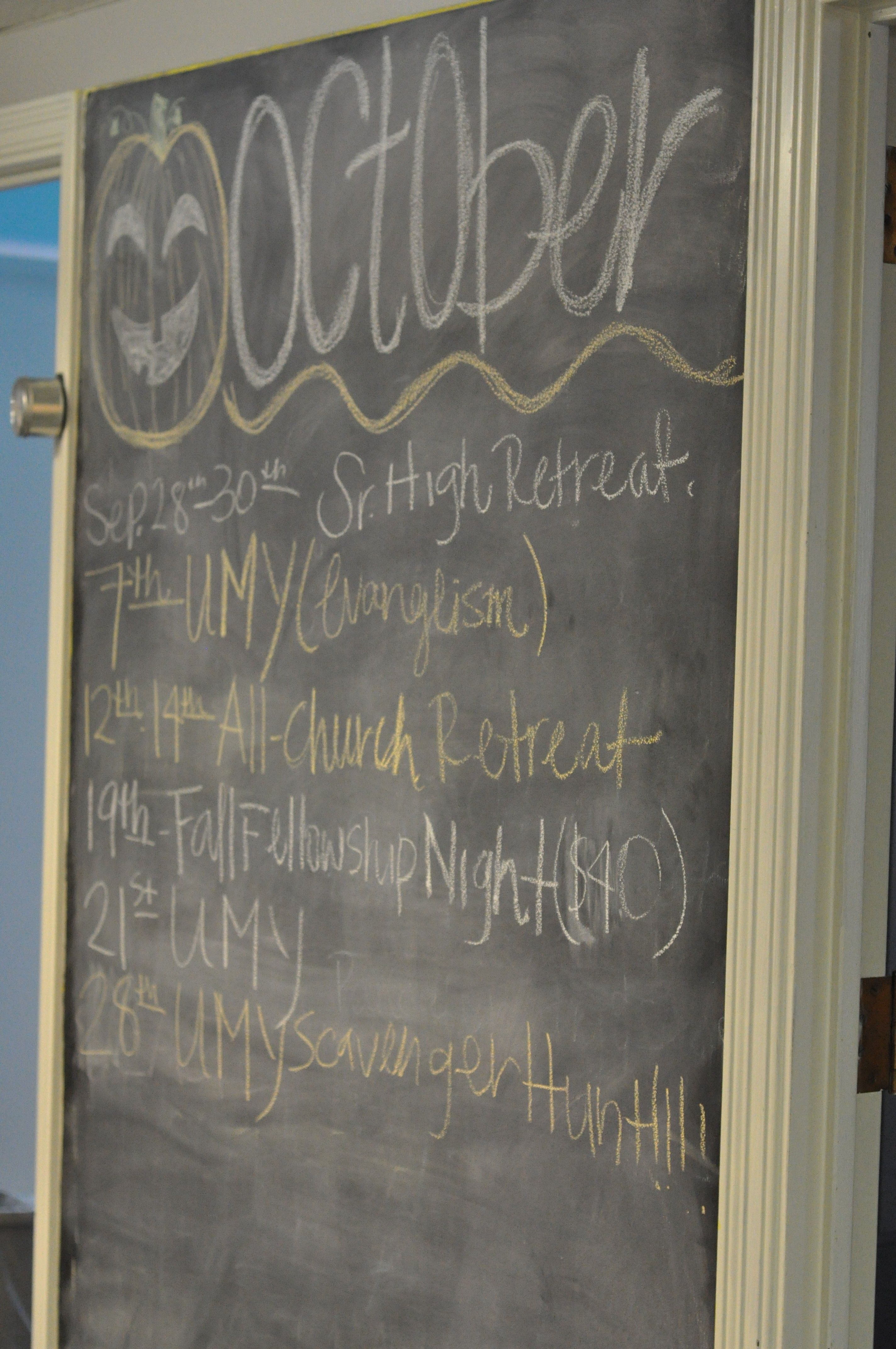Gray Youth Group Rooms: The Chalkboard Paint Wall