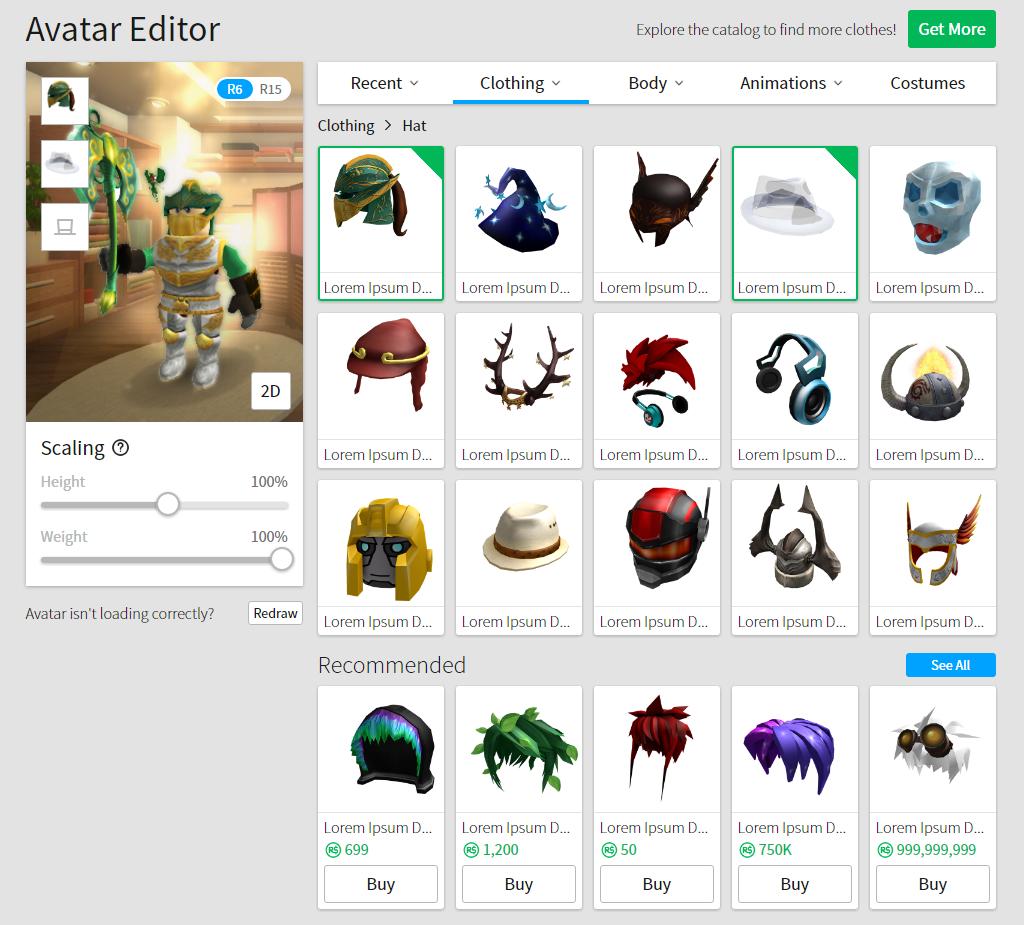 Avatar Editor Update