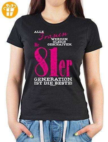 Jahre · sexy Frauen Damen T-Shirt zum 35. Geburtstag - 81er Generation - Geschenk  Geburtstagsgeschenk
