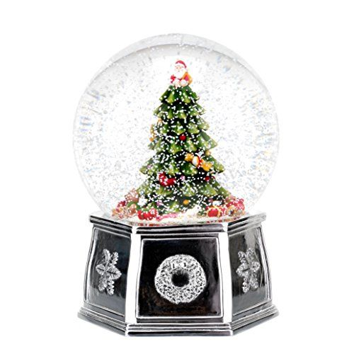 Spode Christmas Tree Musical Tree Snow Globe Large -- See this great