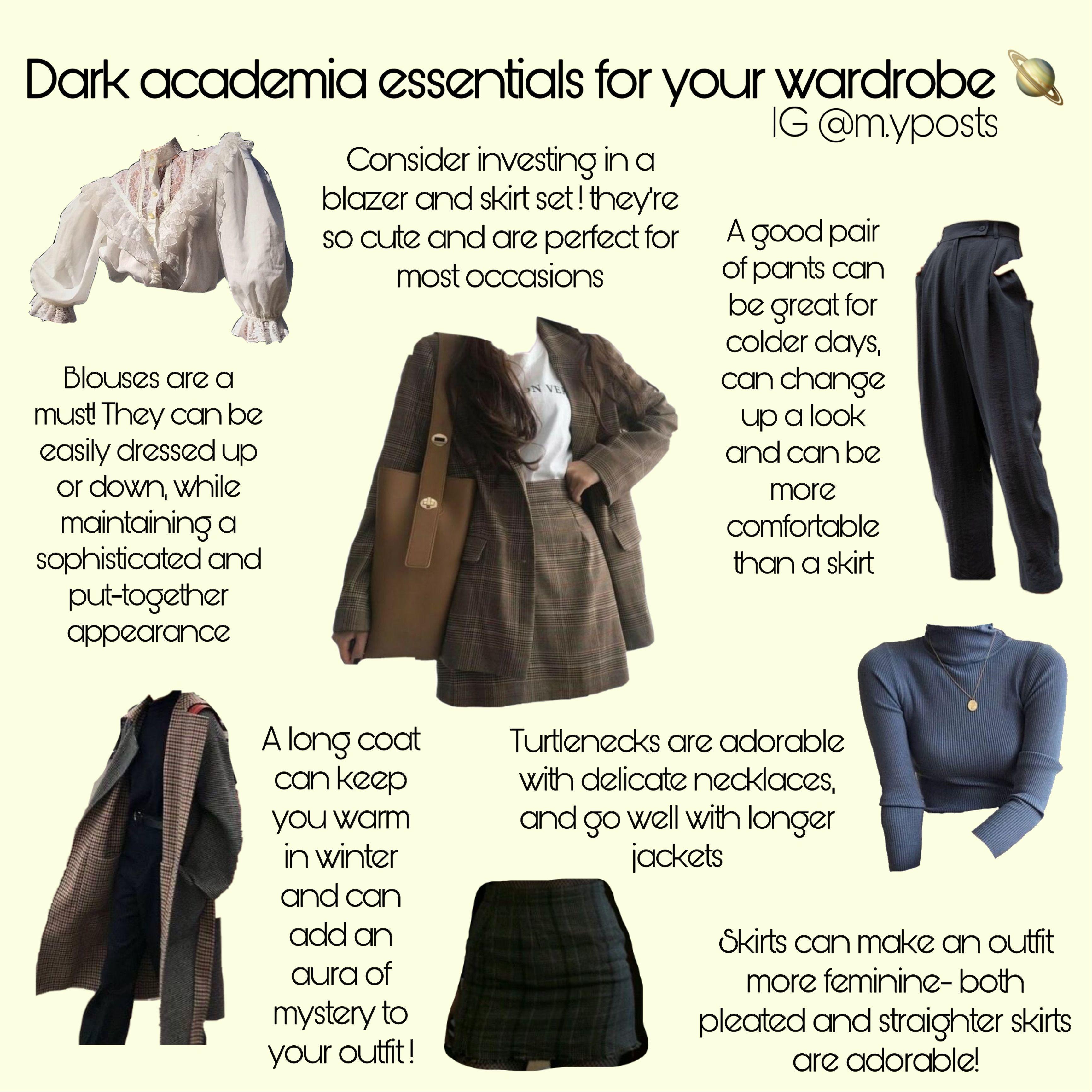 Light Academia Aesthetic Fashion