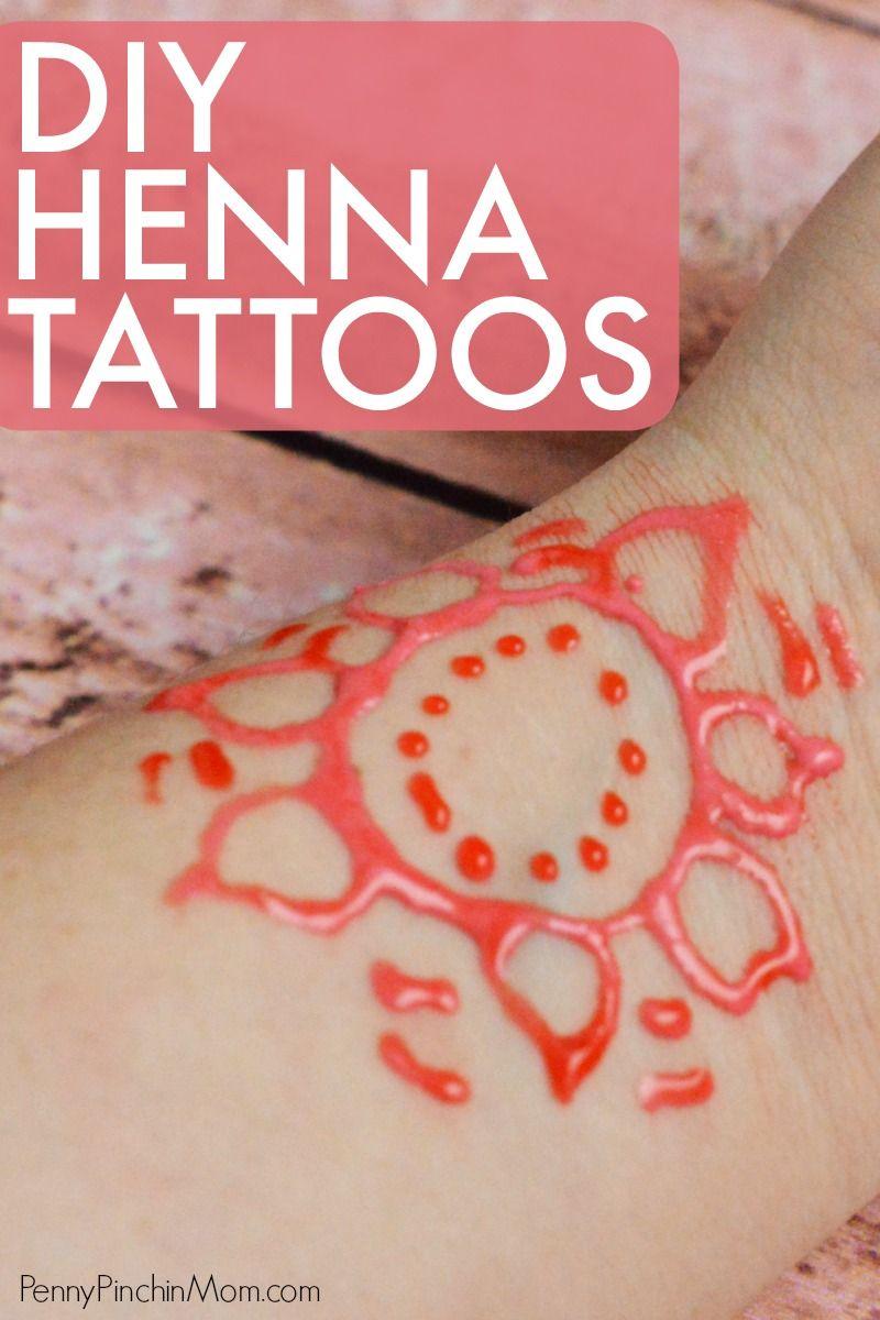 How you can make henna tattoos henna tattoo diy diy