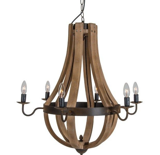 wine barrel lighting. loving the wine barrel chandelier sold by restoration hardware? we are too, but with lighting i