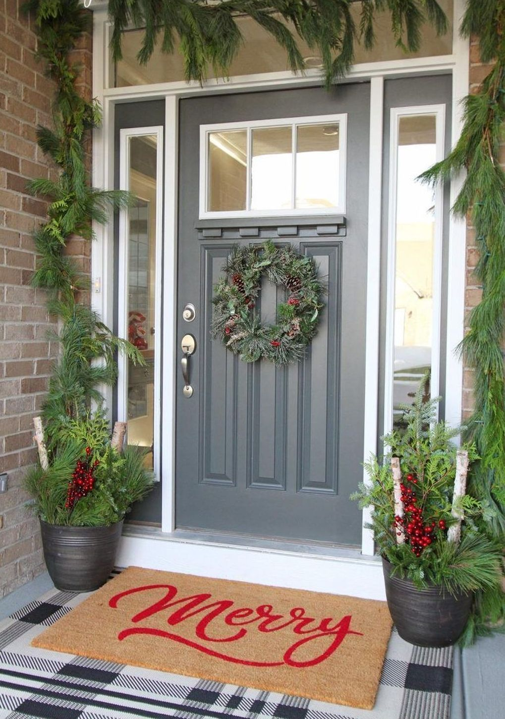 76 Cheap DIY Christmas Porch Ideas | Christmas porch decor ...