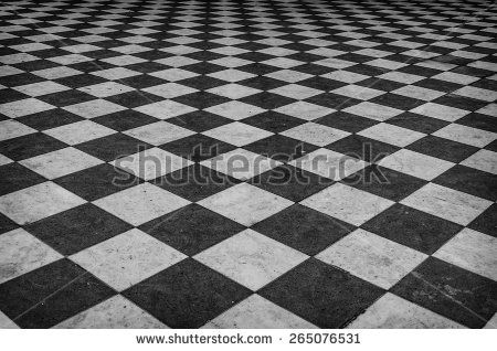 Black And White Checkered Marble Floor Pattern Textures