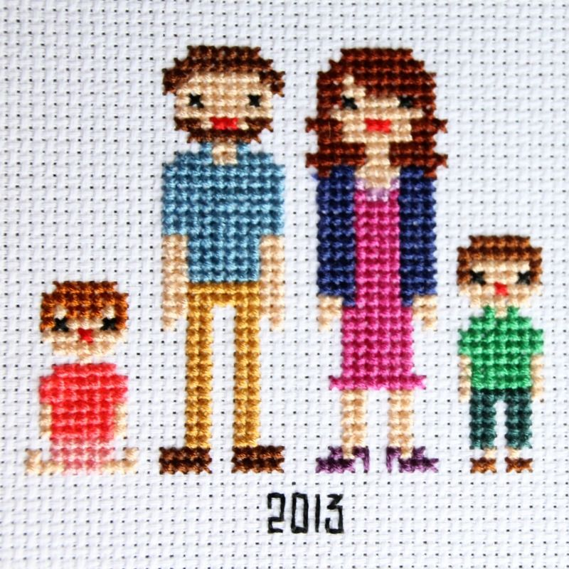 Cross Stitch Family Portrait 2 Free Pattern Cross Stitch