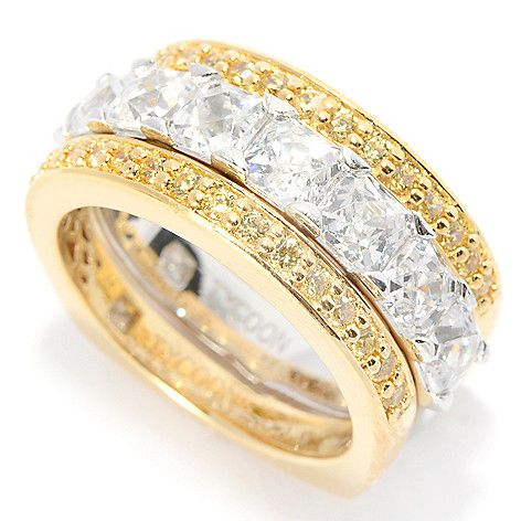 147-366 - TYCOON Set of Three 3.66 DEW Simulated Diamond Stacking Rings
