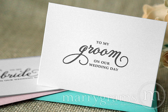 b47d8c62ae114 Wedding Card to my Bride or Groom on our Wedding Day - Love Note to ...