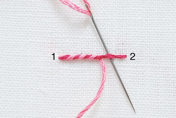Embroidery Stitches Guide Whipped Back Stitch Molliemakes