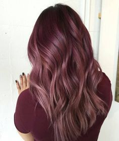 Plum they call it...and 2016 hottest hair color choice but it's not going away anytime soon. Grey mahogany dye hair color 9/4/17