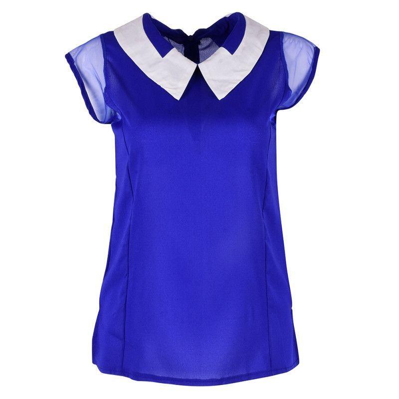 Women Summer Loose Chiffon OL blouses Sleeveless Vest Tops Blouse camisa feminina Plus Size