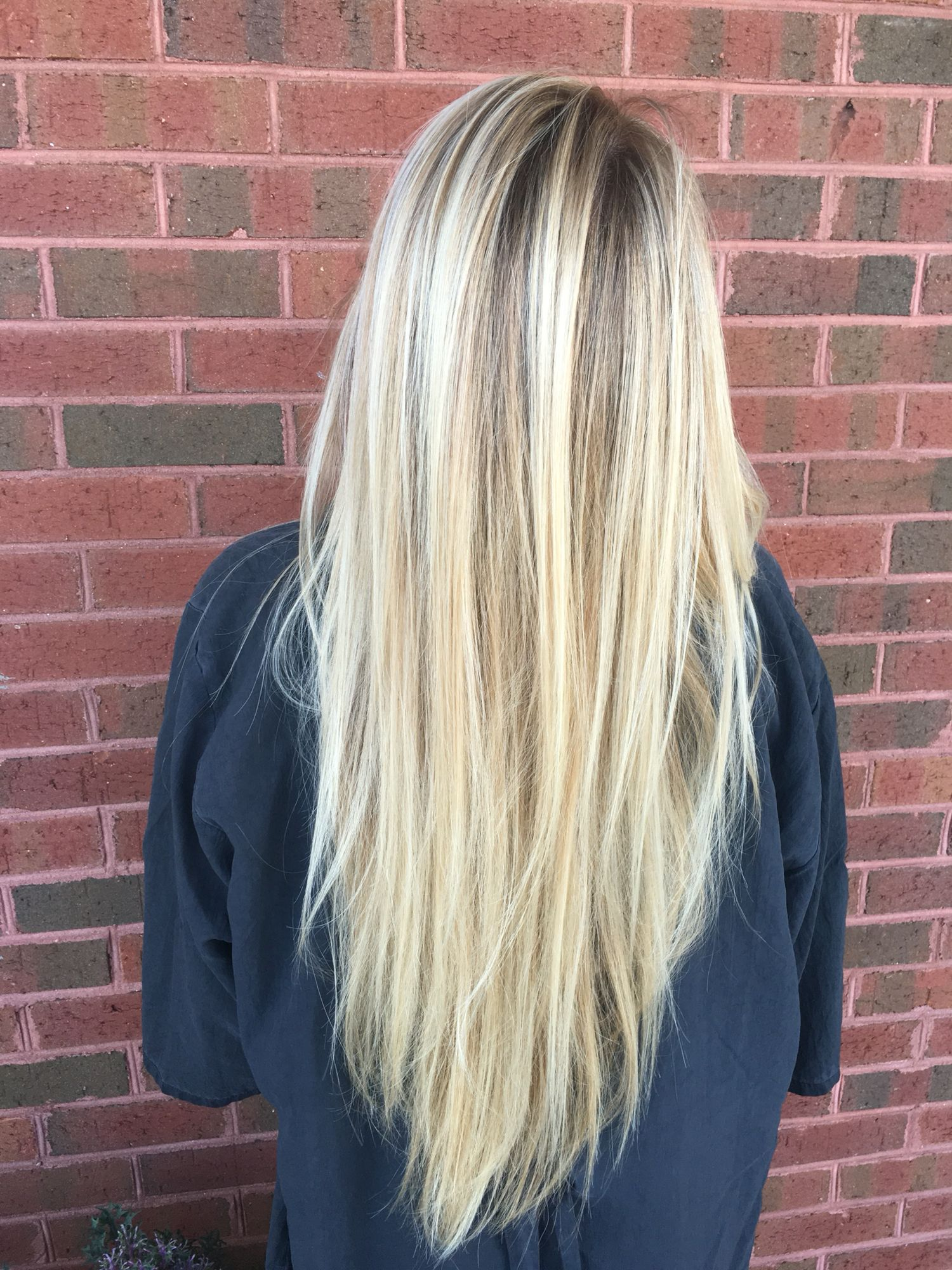 Cool Tone Blonde Balayage With Natural Lowlight Hair