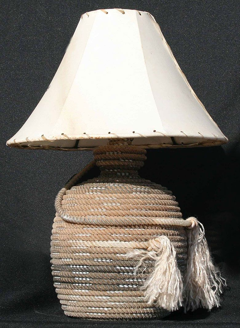 Rope Lamps Lariot Lamps Cowhide Shades By Jus Rope N Kreations