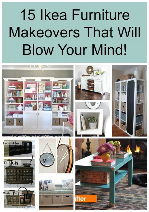 15 Ikea Furniture Makeovers That Will Blow Your Mind Meubles, DIY - relooker un meuble en pin
