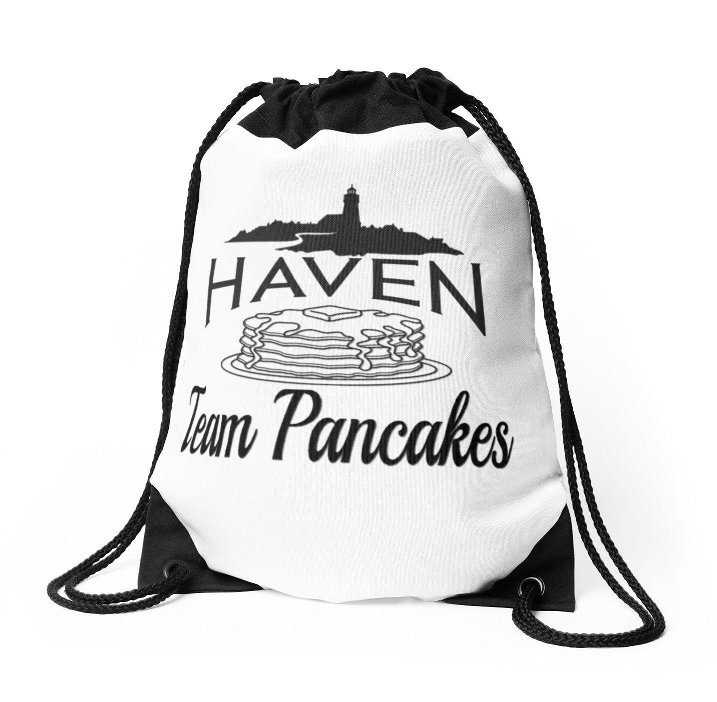 Haven Syfy Inspired Drawstring Bag | Haven Team Pancakes