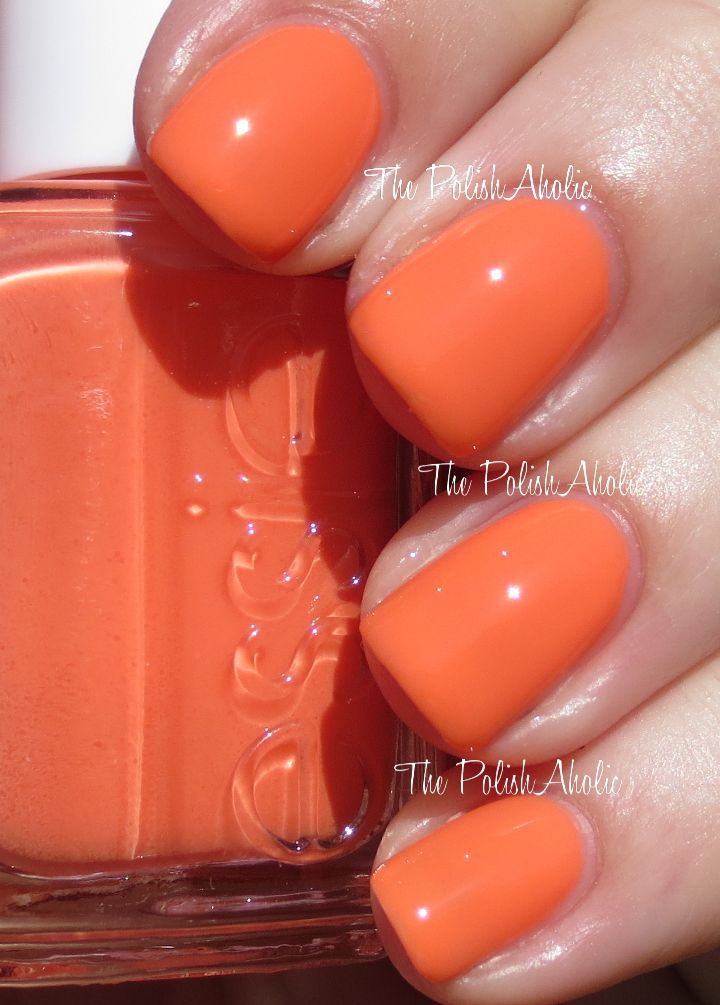 Serial Shopper is a bright orange. This isn't your typical neon orange, it's more muted and lighter.