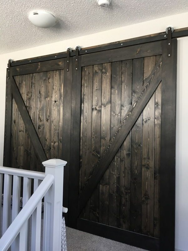 HIS \u0026 HER HOME double sliding barn doors closing off bonus room #barndoors #slidingbarndoors #bonusroom | Remodel ideas | Pinterest | Double sliding barn ... & HIS \u0026 HER HOME double sliding barn doors closing off bonus room ...