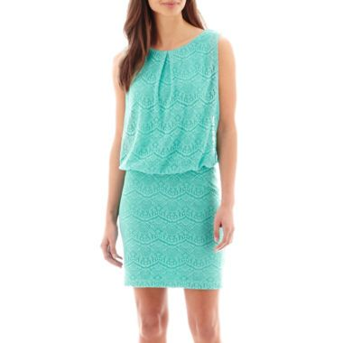 Bisou Bisou® Sleeveless Blouson Crochet Lace Dress found at ...