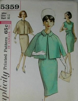 Cute Cape! 1964 Mad Men Outfit!!