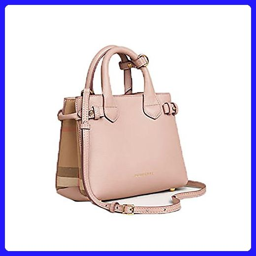 018d50cfc66 Tote Bag Handbag Authentic Burberry The Baby Banner in Leather and House  Check Ink Tan Item 40140791 - Top handle bags (*Amazon Partner-Link)