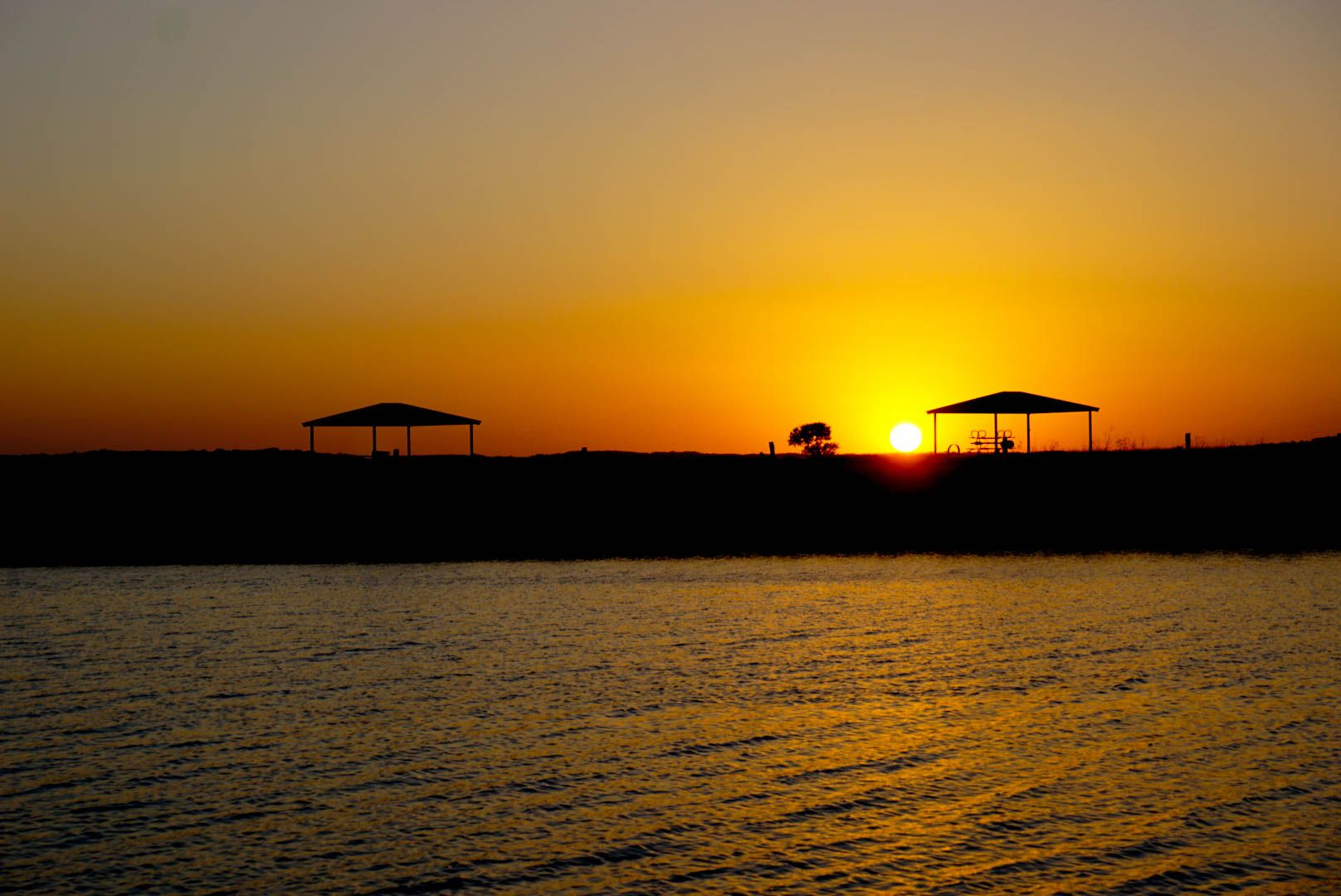 Canyon Lake, Texas  There's nothing better than a sunset and water together.   (All photographs are copyright encrypted)