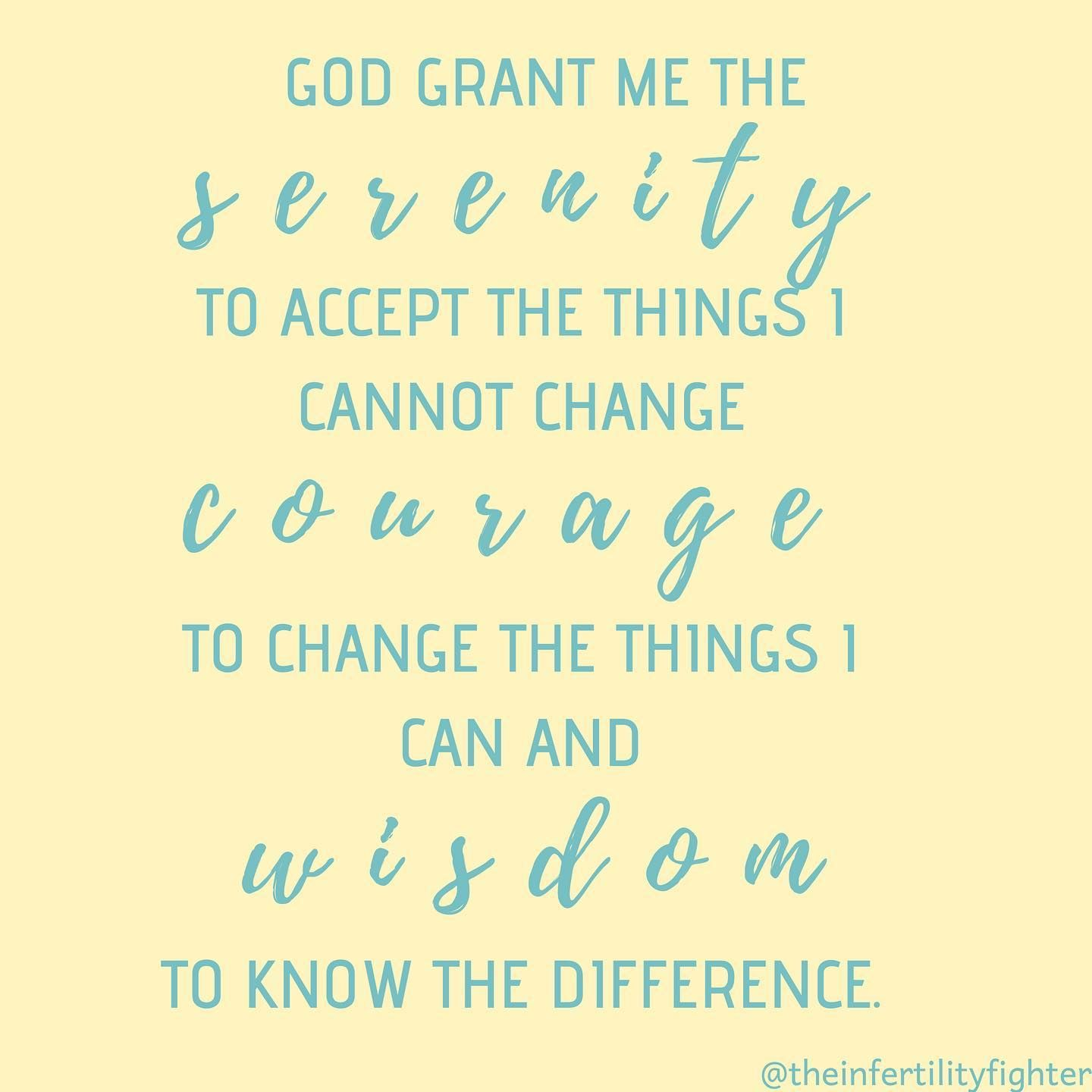 This Is The Serenity Prayer With The Right Spelling