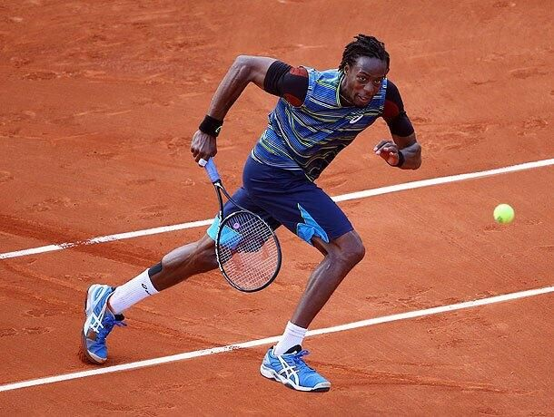 France S Gael Monfils On His Way To Victory At The French Open Via Kinesio Uk Gael Monfils French Open Tennis